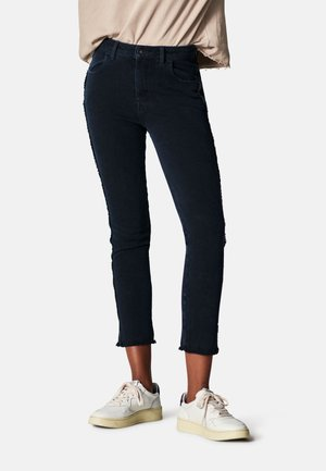 Cropped High Rise - Jeans Skinny Fit - dark blue