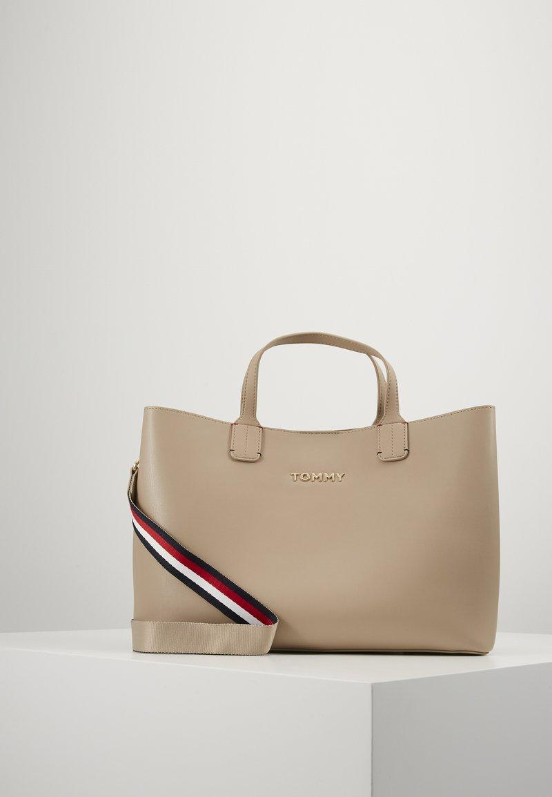 Tommy Hilfiger - ICONIC SATCHEL - Handbag - beige