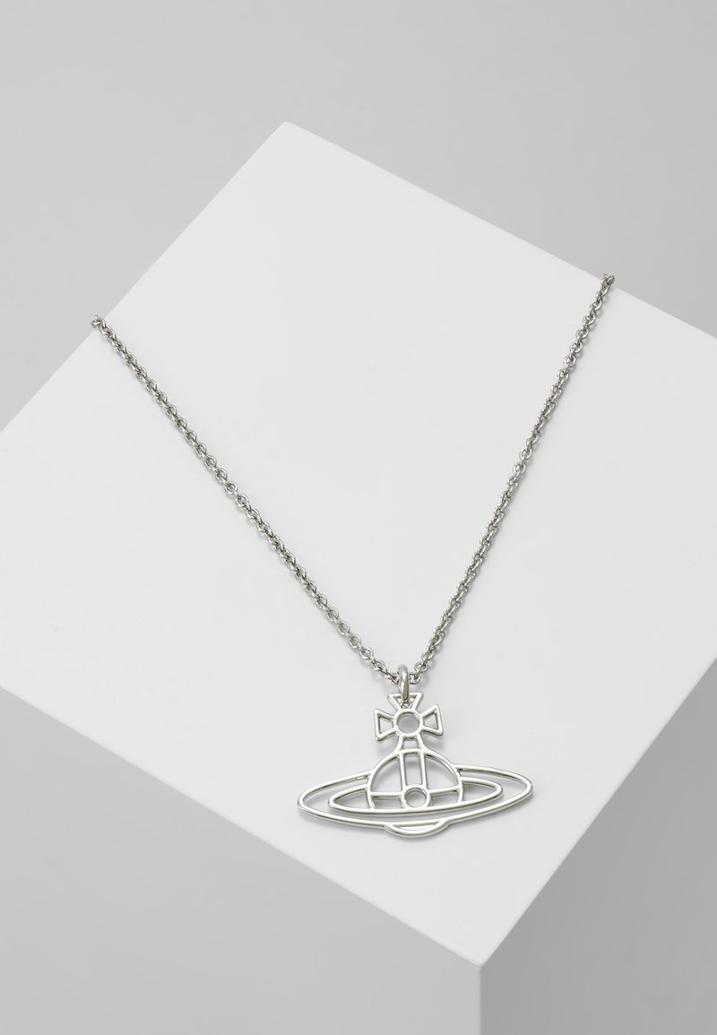 Vivienne Westwood - THIN LINES FLAT ORB PENDANT - Necklace - palladium