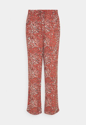 BYFLAMINIA LEO PANTS - Tygbyxor - etruscan red mix