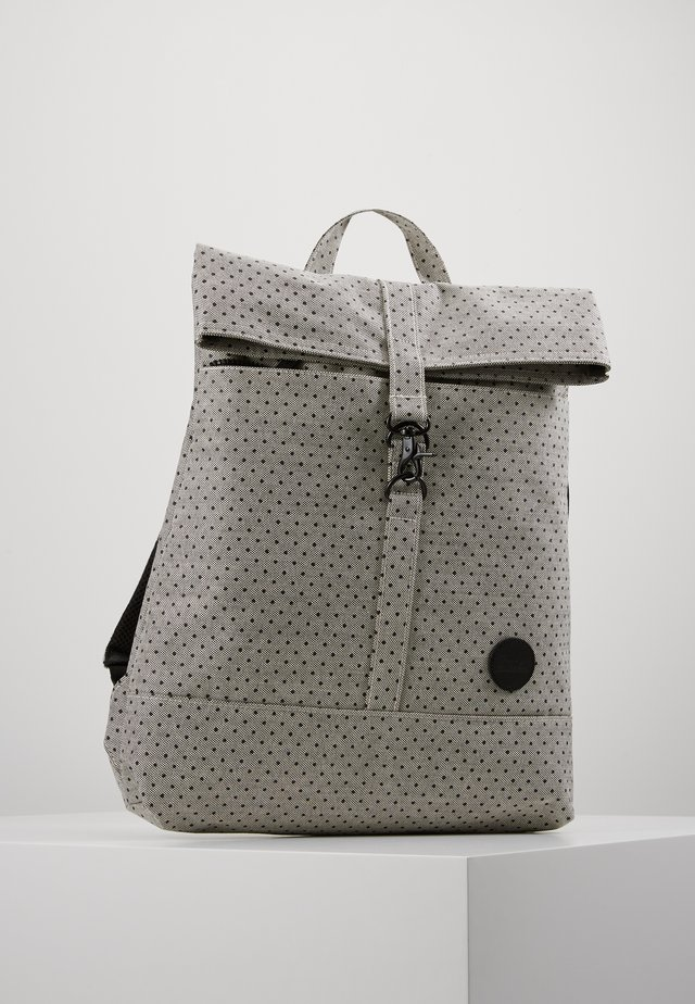 CITY FOLD TOP BACKPACK - Plecak - melange black/black polkadot