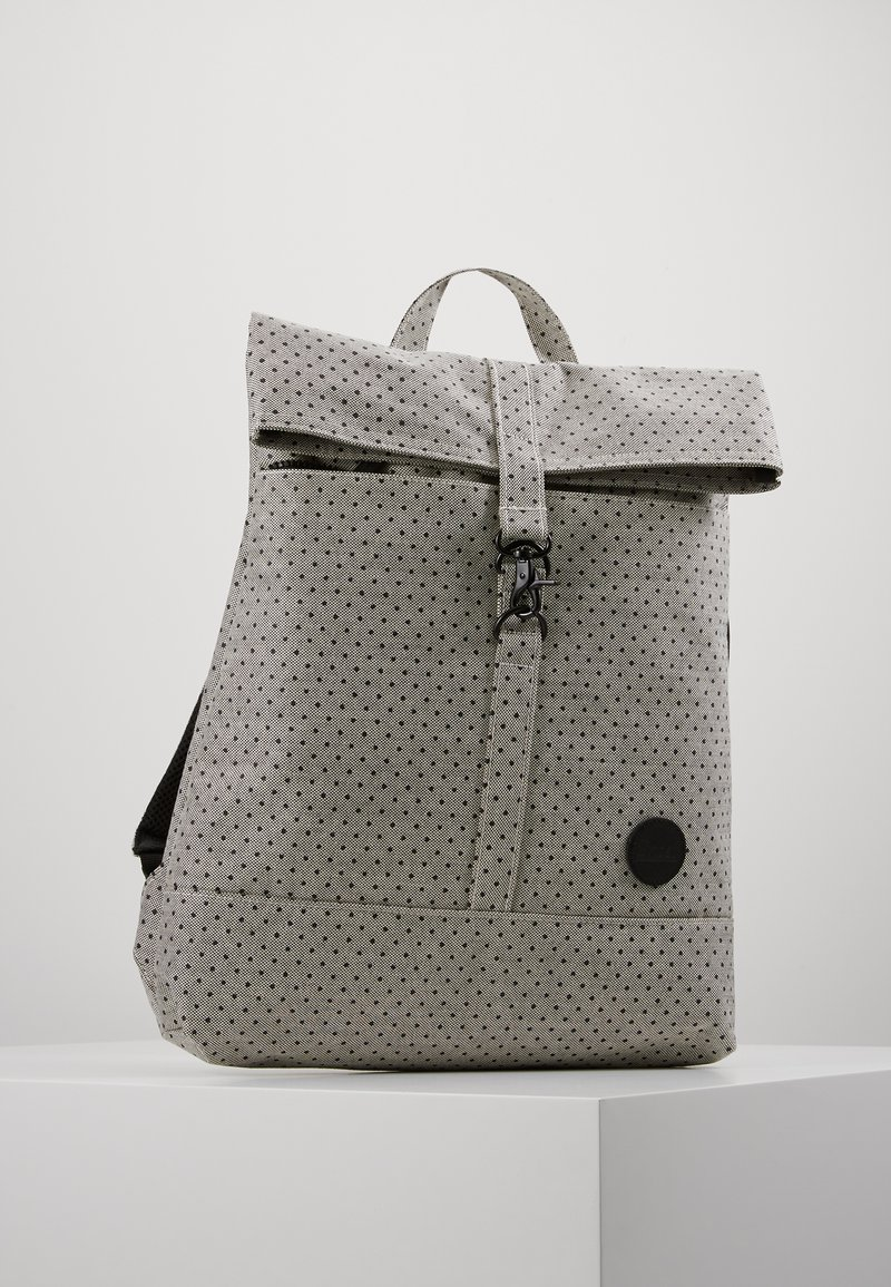 Enter - CITY FOLD TOP BACKPACK - Batoh - melange black/black polkadot