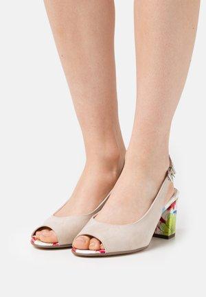 FOLINA - Sandals - sand/multicolor