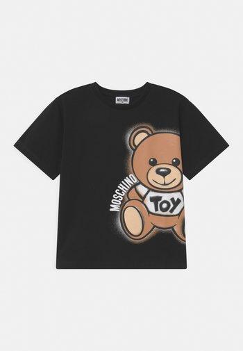 MAXI UNISEX - Print T-shirt - black