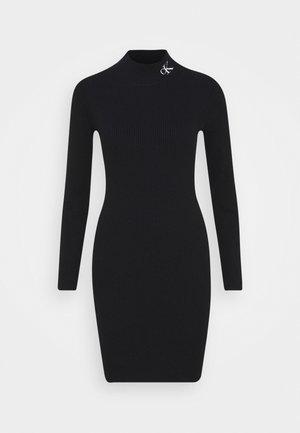 ROLL NECK DRESS - Abito in maglia - black