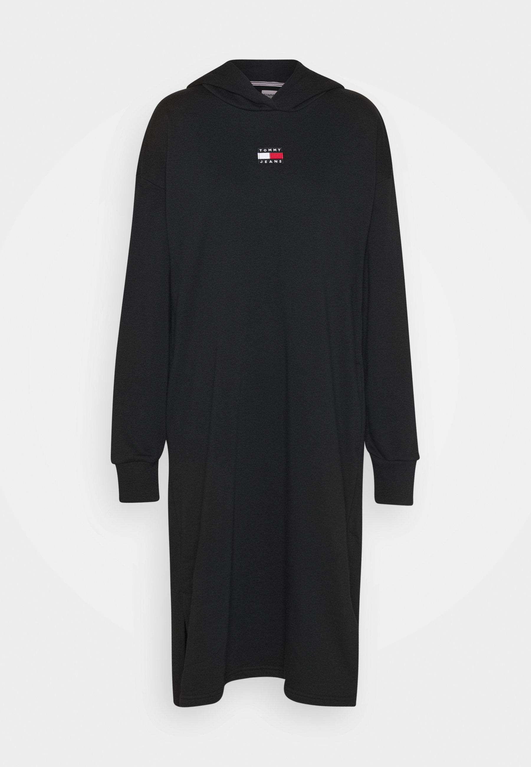 Damen LONGLINE HOODIE BADGE DRESS - Freizeitkleid