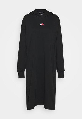 LONGLINE HOODIE BADGE DRESS - Robe d'été - black
