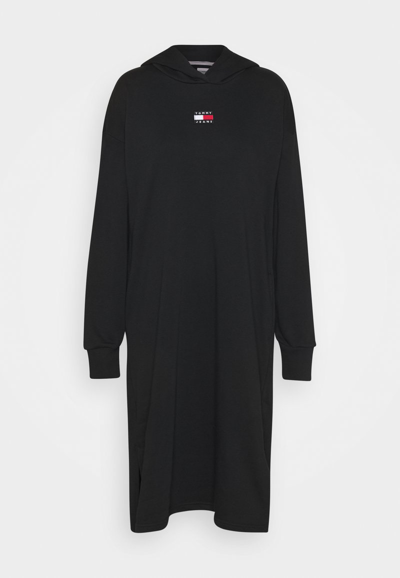 Tommy Jeans - LONGLINE HOODIE BADGE DRESS - Vestito estivo - black