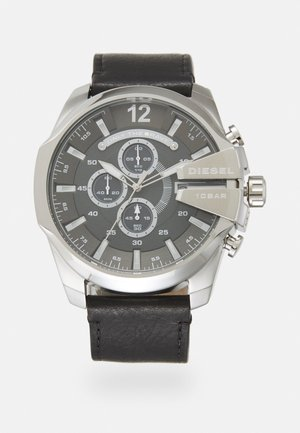 MEGA CHIEF SET - Chronograph watch - black/silver-coloured