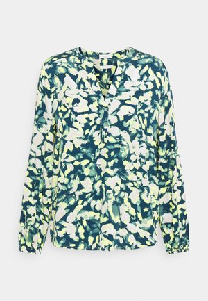 BLOUSE - Long sleeved top - navy/mint