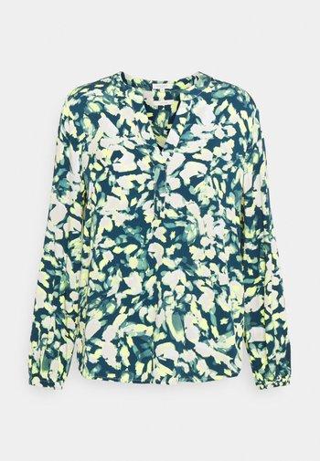 BLOUSE - Bluzka z długim rękawem - navy/mint