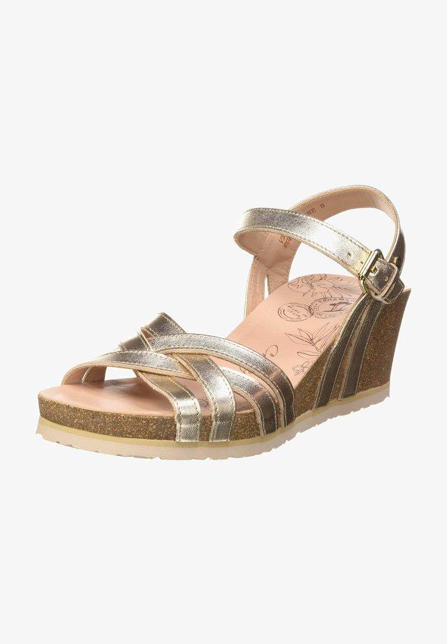 Sandaletter med kilklack - orogold