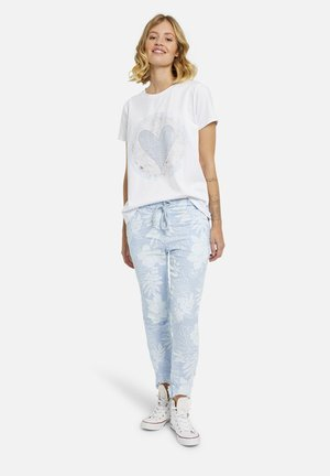 Trousers - light blue print