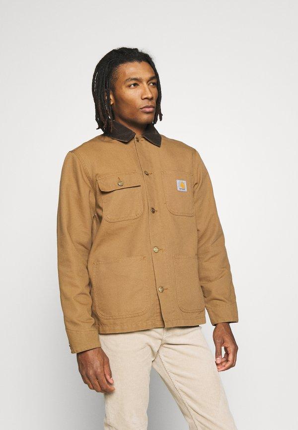 Carhartt WIP MICHIGAN COAT DEARBORN - Kurtka wiosenna - hamilton brown rinsed/brązowy Odzież Męska HTTD