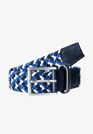 Braided belt - blau / weiss