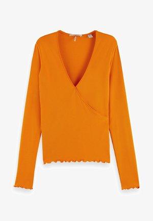 WRAPOVER - Long sleeved top - bright orange