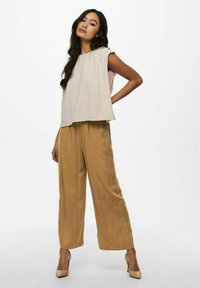 ONLY - Trousers - toasted coconut - 1