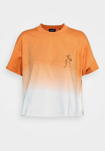 Print T-shirt - orange/ecru