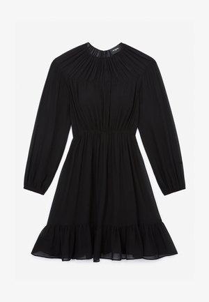 ROBE COURTE ÉLASTIQUÉE À FRONCES - Day dress - black