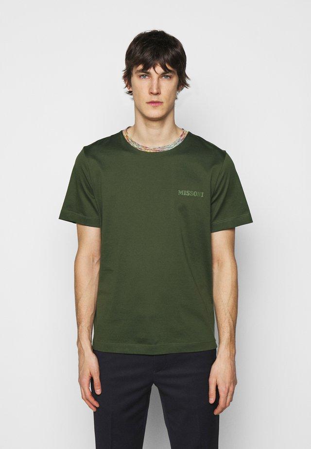 MANICA CORTA - T-Shirt print - dark green
