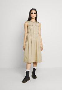G-Star - FIT AND FLARE DRESS - Day dress - westpoint khaki - 1
