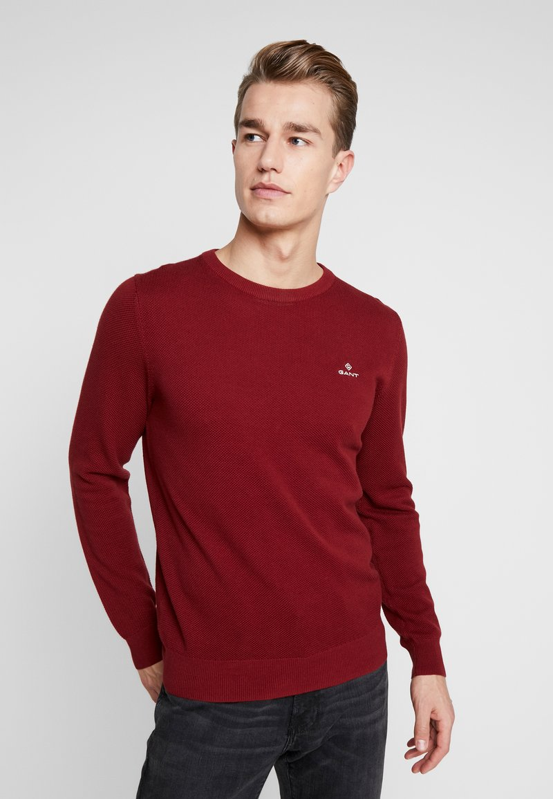 GANT - C NECK - Stickad tröja - crimson red