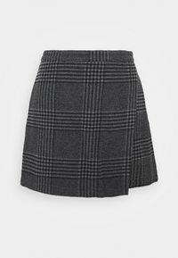 Abercrombie & Fitch - WEBEX PLAID MINI - Mini skirt - black - 1
