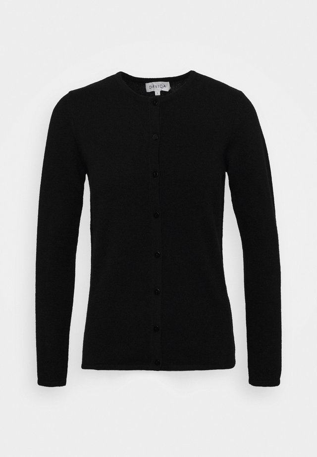 CLASSIC CARDIGAN - Strickjacke - black