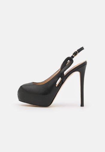 GINNIA - Platform heels - black