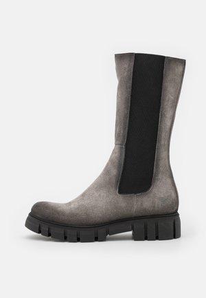 SAURA - Platform boots - marvin/ice/black