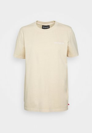 CASUAL TEE - T-Shirt print - beige logo