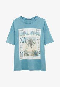 PULL&BEAR - Print T-shirt - stone blue denim - 4