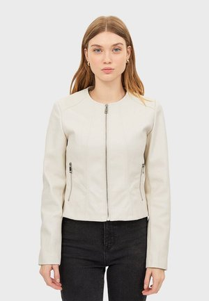 Faux leather jacket - beige