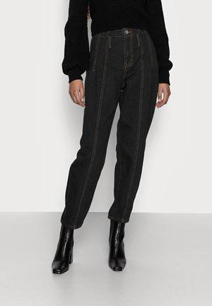 SEAM DETAIL MOM - Straight leg jeans - black
