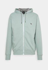 REG FIT ZIP HOODY UNISEX - Zip-up sweatshirt - light green