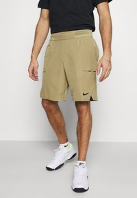 Nike Performance - SHORT - Pantalón corto de deporte - parachute beige/black - 0
