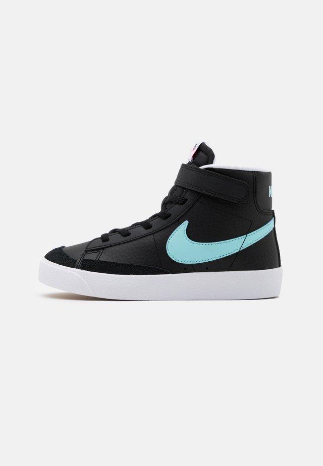 BLAZER MID '77 UNISEX - Sneakers hoog - black/glacier ice/white/pink glow