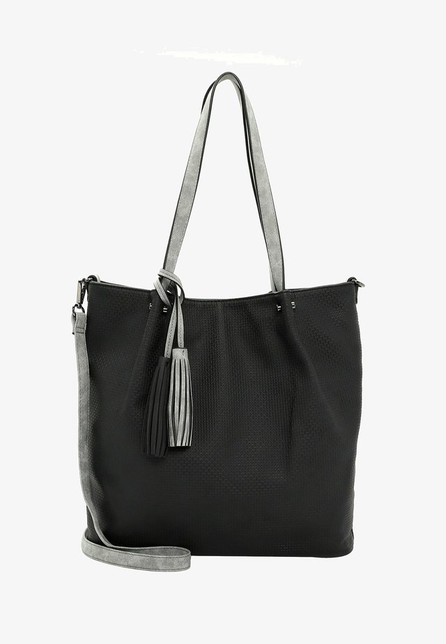 SURPRISE - Shopping bag - black grey