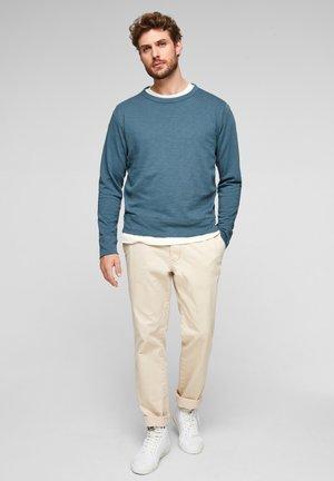 ANIMÉ D'UNE TEXTURE FIL FLAMMÉ - Sweatshirt - light blue