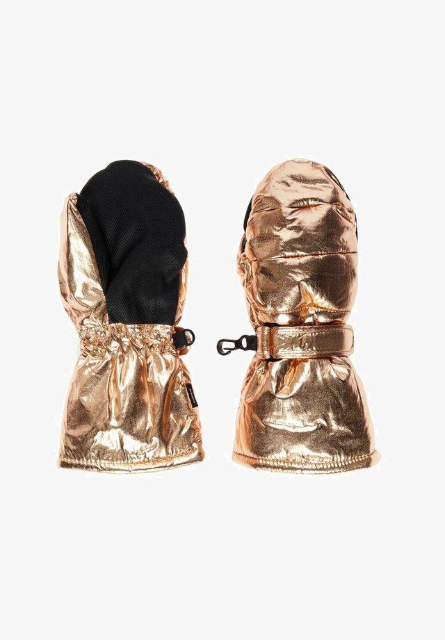 Rękawiczki pięciopalcowe - amber gold