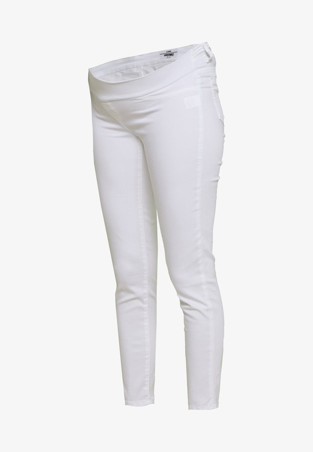 KEIRA CROPPED - Jeansy Slim Fit - white