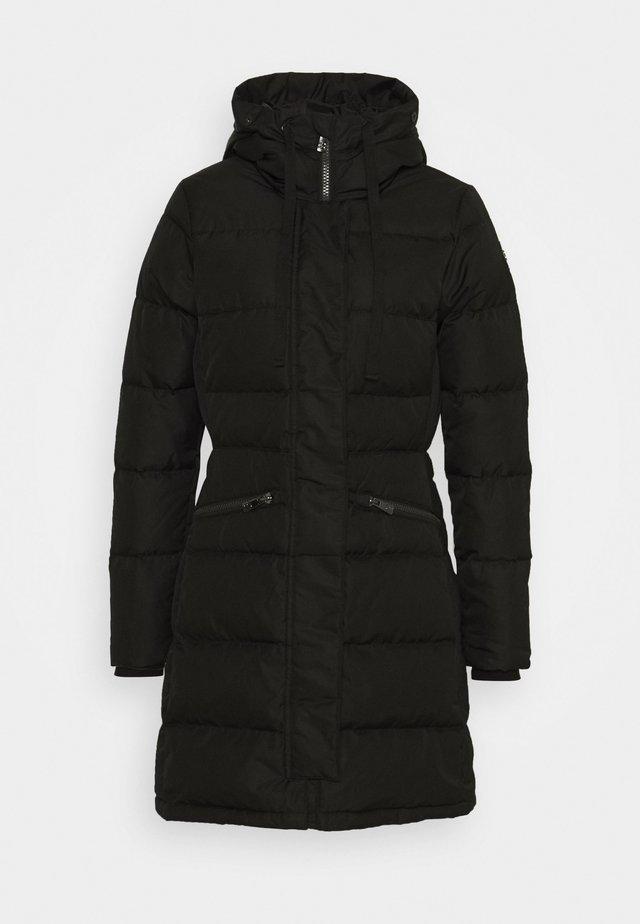 SELMA COAT - Kabát zprachového peří - black