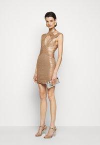Hervé Léger - BANDAGE MINI DRESS - Cocktail dress / Party dress - rose gold - 1