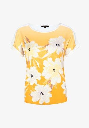 MIT SATINFRONT - Print T-shirt - honey big flower
