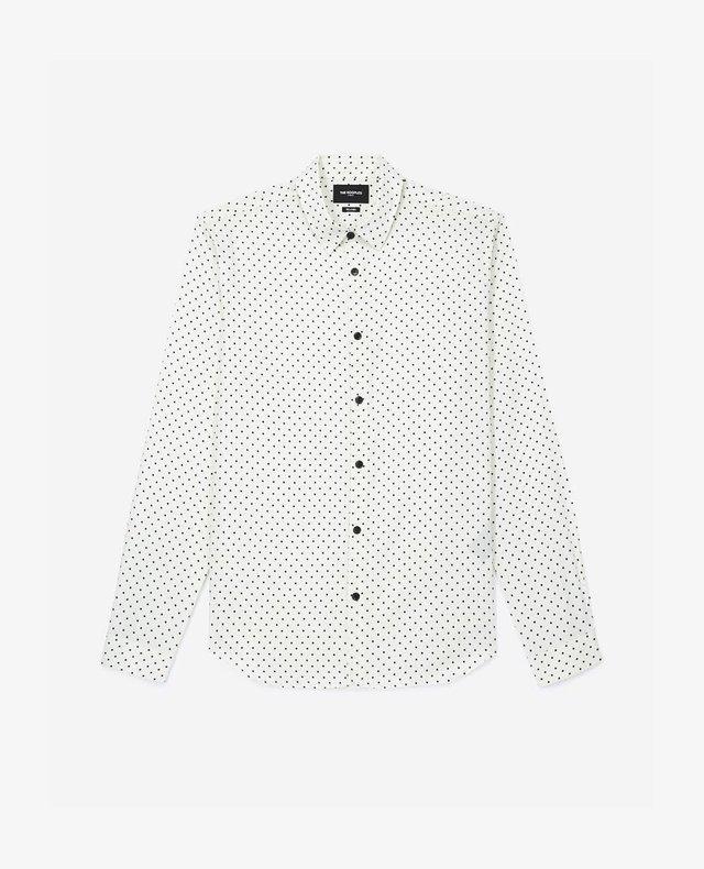 Koszula biznesowa - ecru black