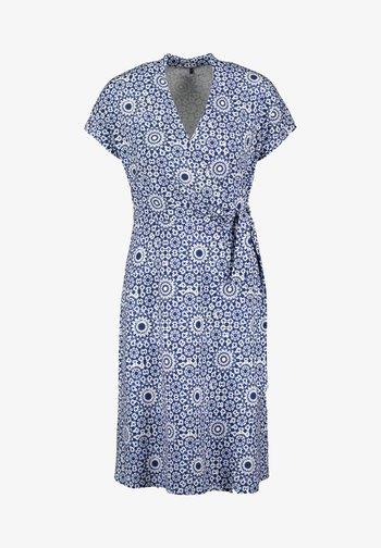 Day dress - blau/ecru/weiss druck