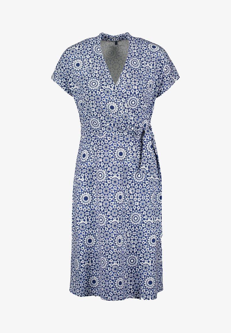 Gerry Weber - Day dress - blau/ecru/weiss druck