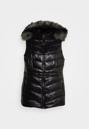 LUXE PADDED GILET - Waistcoat - black