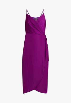 RUMPLE CAMI WRAP DRESS - Day dress - rich magenta