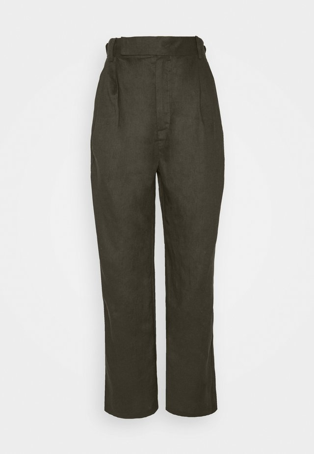 TAPER IN TROUSERS - Kangashousut - army
